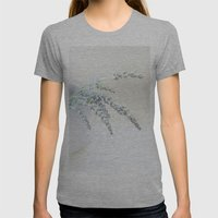 Lavender Womens Fitted Tee Athletic Grey SMALL