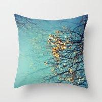 Gold Drops Throw Pillow