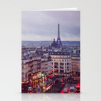 Rainy Paris. Stationery Cards