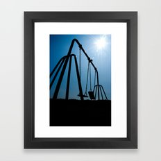 Abandoned Swing Set Framed Art Print