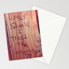 FENCE at the GRASSY KNOLL Stationery Cards