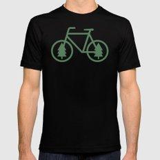 Pacific Northwest Cycling - Bike, Bicycle, Portland, PDX, Seattle, Washington, Oregon, Portlandia Mens Fitted Tee Black SMALL