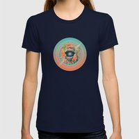 Stardust Riders Womens Fitted Tee Navy SMALL