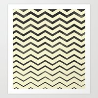 Zag (natural) Art Print