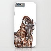 Giraffe With Baby Giraff… iPhone 6 Slim Case