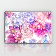 Pink Trendy Modern Water… Laptop & iPad Skin