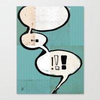 Comic Book: !!! Canvas Print