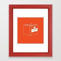 The Book Worm Framed Art Print