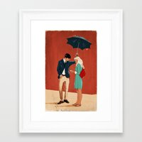 Framed Art Print featuring Broadway Bus Stop by Stephan Parylak