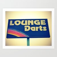 Lounge Darts sign Art Print