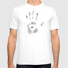 Peace White SMALL Mens Fitted Tee