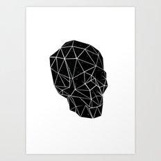Space Skull  Art Print