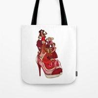 Ladies In Red Tote Bag