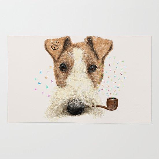 fox terrier sailor Area & Throw Rug