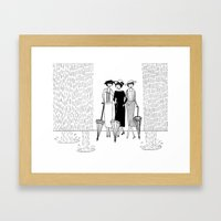 When It Rains It Pours Framed Art Print