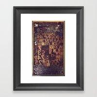 Typecase 1 Framed Art Print