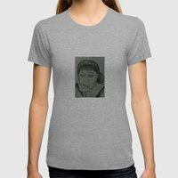 Adele Sketch Womens Fitted Tee Athletic Grey SMALL