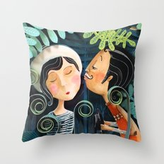 Kiss Good Night Throw Pillow
