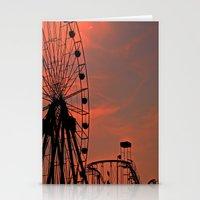 Sundown in Fun Town Stationery Cards