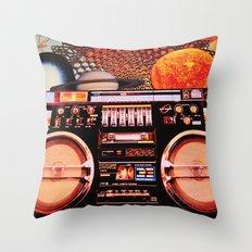 Planetary Boombox Throw Pillow