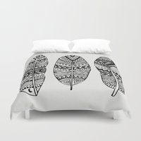 Feathers Of My Life Duvet Cover
