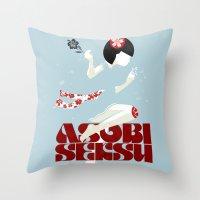 Asobi Seksu Tour Poster Throw Pillow