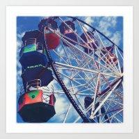 Big Wheel Ferris Wheel Art Print