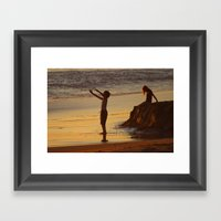 End Of A Good Day Framed Art Print