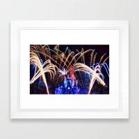 Walt Disney World Christmas Eve Fireworks Framed Art Print