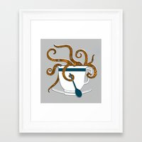 Octopus in a Teacup Framed Art Print