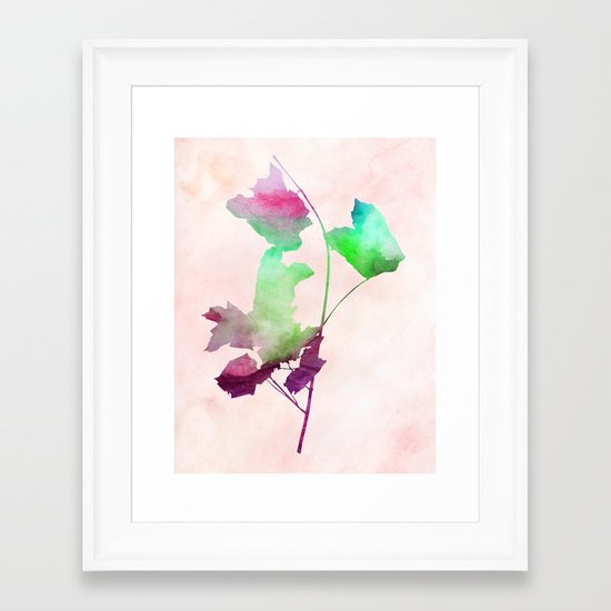 Maple_Watercolor2 by Jacqueline and Garima Framed Art Print