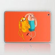 Laptop & iPad Skin featuring Finn & Jake by Daniel Mackey