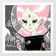 Art Print featuring ☽ AMALTEA ☾ by LOll3