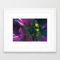 Layered Web Framed Art Print