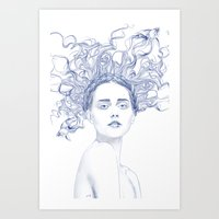 Blue Summer  Art Print