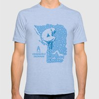 A is for Abominable Snowman Mens Fitted Tee Athletic Blue SMALL