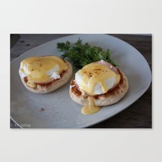 Traditional Eggs Benedict Canvas Print