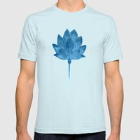 Ascent Mens Fitted Tee Light Blue SMALL