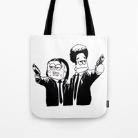 Pulp Fiction ( Patrick and Spongebob)  Tote Bag