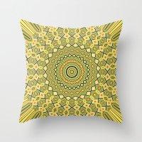 Lemons and Lime Mandala Design Throw Pillow