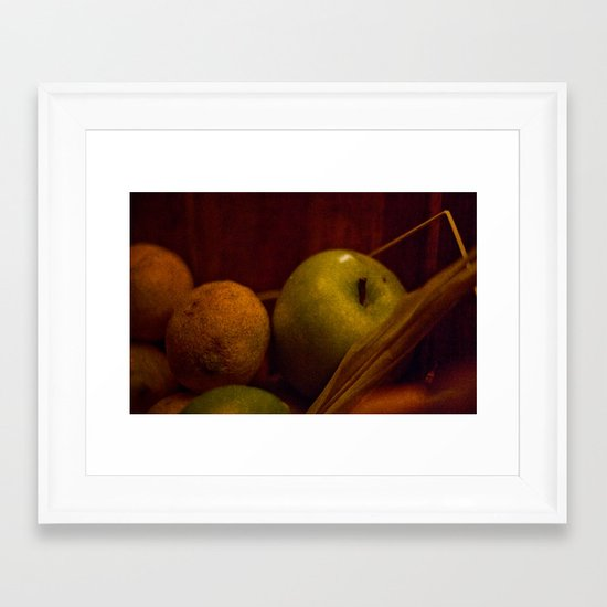 Apple and Orange Still Life Framed Art Print
