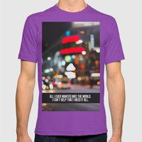 marina + the diamonds - world. Mens Fitted Tee Ultraviolet SMALL