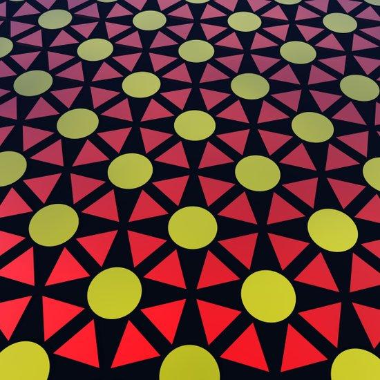 Red/Yellow 3D Pattern Art Print
