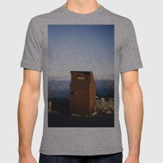 Miles high trash can Mens Fitted Tee Athletic Grey SMALL