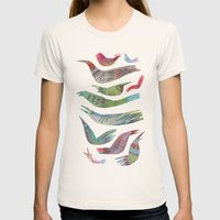 oiseaux Womens Fitted Tee Natural SMALL