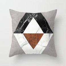 Marble Abstract Throw Pillow