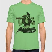 Baseball Fury Mens Fitted Tee Grass SMALL