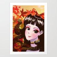 Autumn Maiden Art Print
