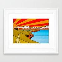 Newquay Headland Framed Art Print