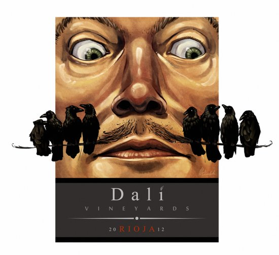 Dali Vineyards Wine Label Art Print